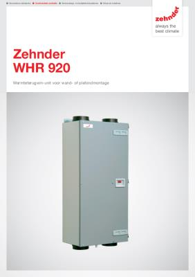 preview-pdf-WHR 920 warmteterugwinunit